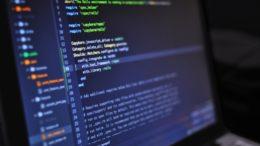 blur close up code computer