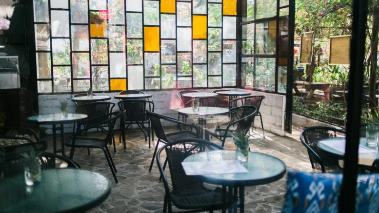 tables in cafe in daytime