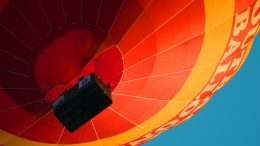 low angle photography of hot air balloon