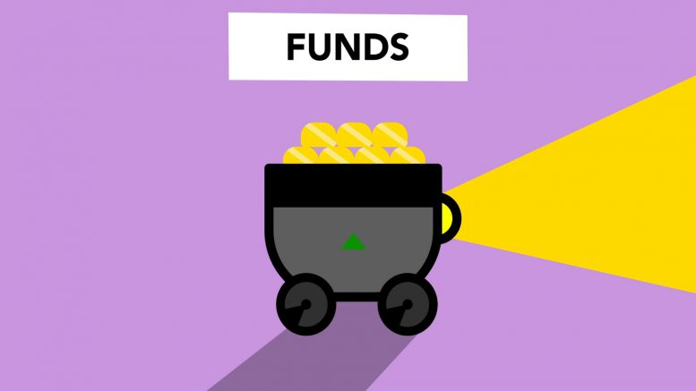 illustration of trolley with gold as part of fund
