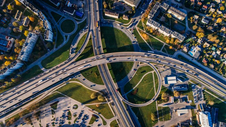 aerial photo of buildings and roads